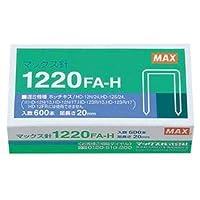 (まとめ) マックス ホッチキス針大型12号シリーズ 100本連結×6個入 1220FA-H 1箱 【×10セット】