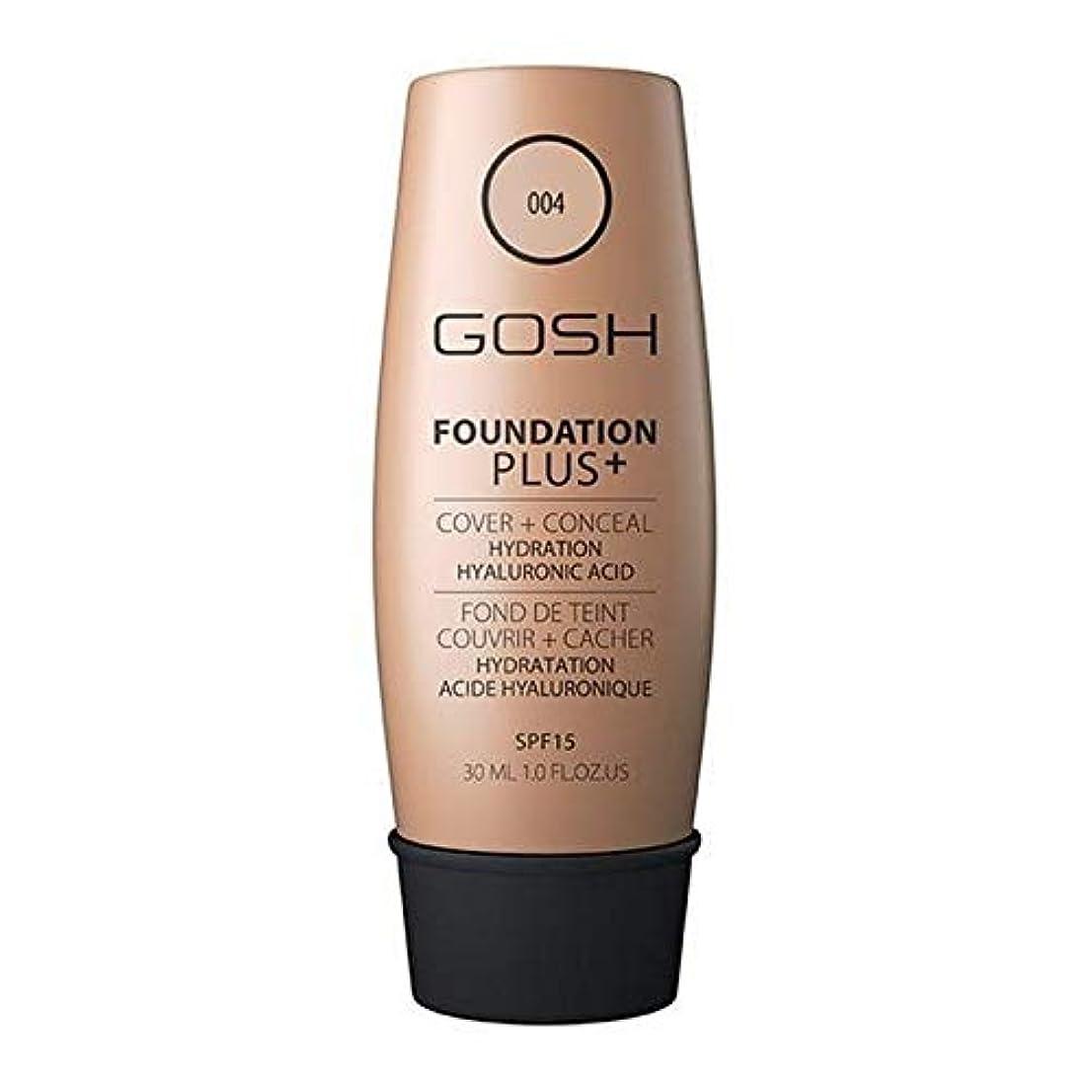 アジア人ロマンチック目指す[GOSH ] おやっ基盤プラス+ナチュラル004 - Gosh Foundation Plus+ Natural 004 [並行輸入品]