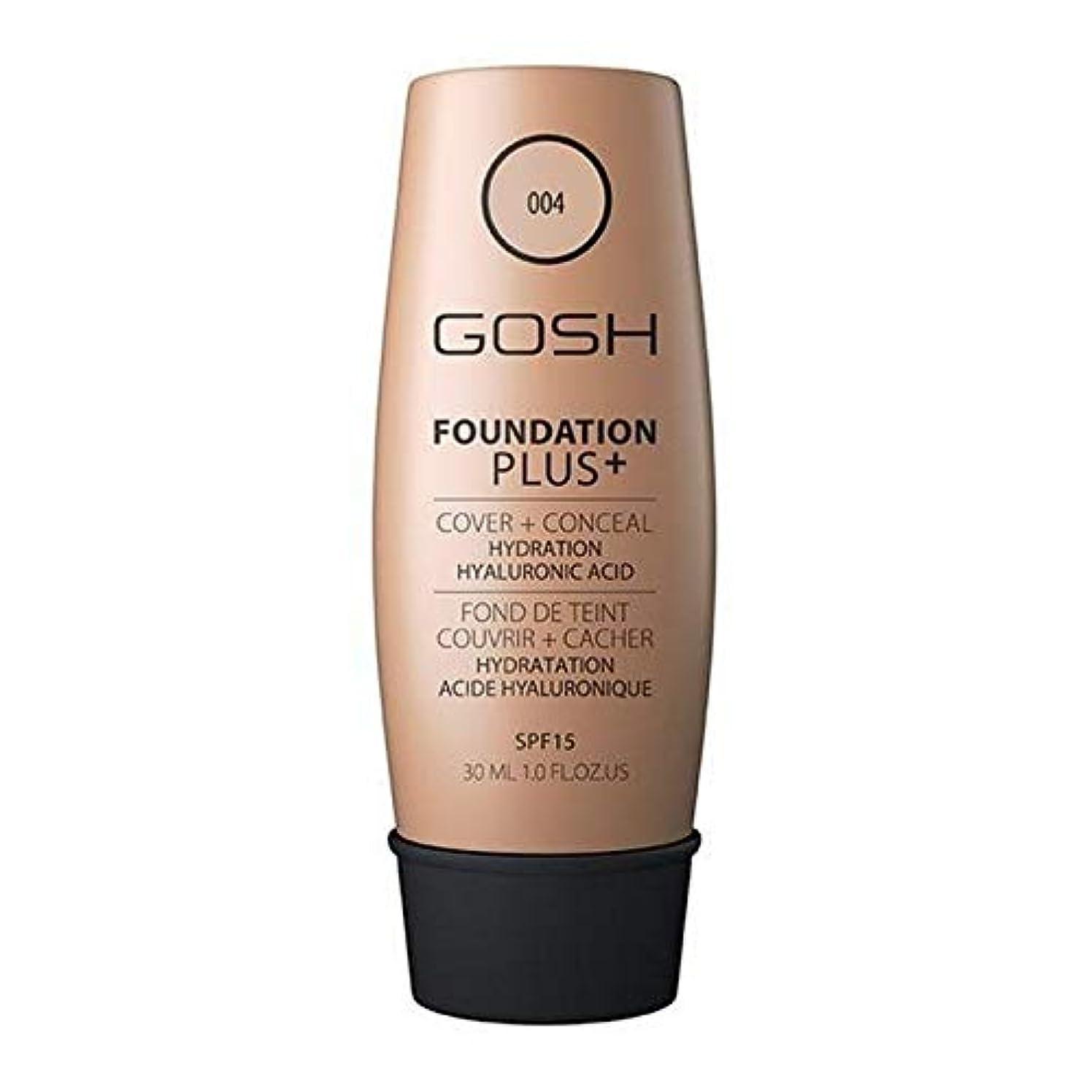 支払うガム舗装する[GOSH ] おやっ基盤プラス+ナチュラル004 - Gosh Foundation Plus+ Natural 004 [並行輸入品]