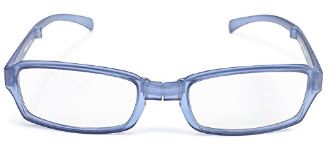 デューク 老眼鏡 折りたたみ +1.5 度数 ヴィアージェン 携帯用 ケース付き マットブルー VFR-02-6+1.50