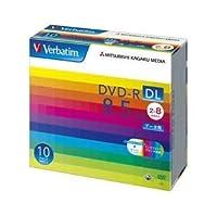 三菱化学メディア DVD-R DL 8.5GB PCデータ用 8倍速対応 10枚スリムケース入りワイド印刷可能 DHR85HP10V1