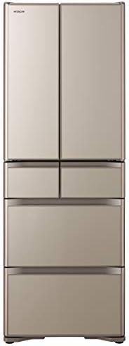 日立 冷蔵庫 430L 6ドア 強化ガラスドア 観音開き 日本製 幅65.0cm 真空チルド R-XG43K XN プレーンシャンパン