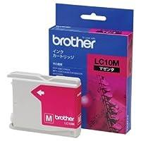(まとめ) ブラザー BROTHER インクカートリッジ マゼンタ LC10M 1個 〔×4セット〕