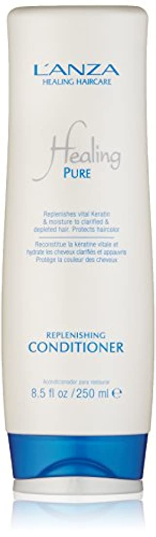 怖がらせる六コットンHealing Pure by L'Anza Replenishing Conditioner 250ml by L'anza