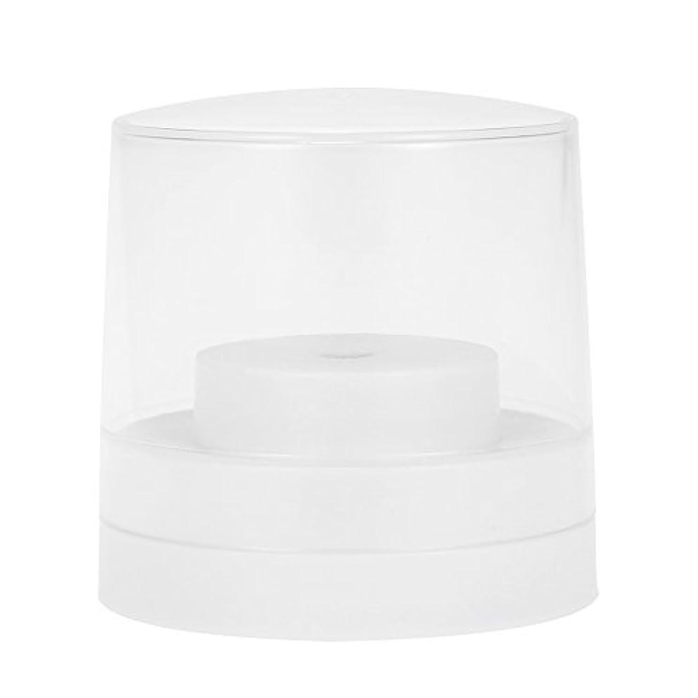 抑圧者実際バッテリーDecdeal ネイルドリルビットホルダー 60穴 歯科用 バースタンド ディスプレイ オーガナイザー コンテナ 透明 カバープラスチック ネイル 歯科用アクセサリー