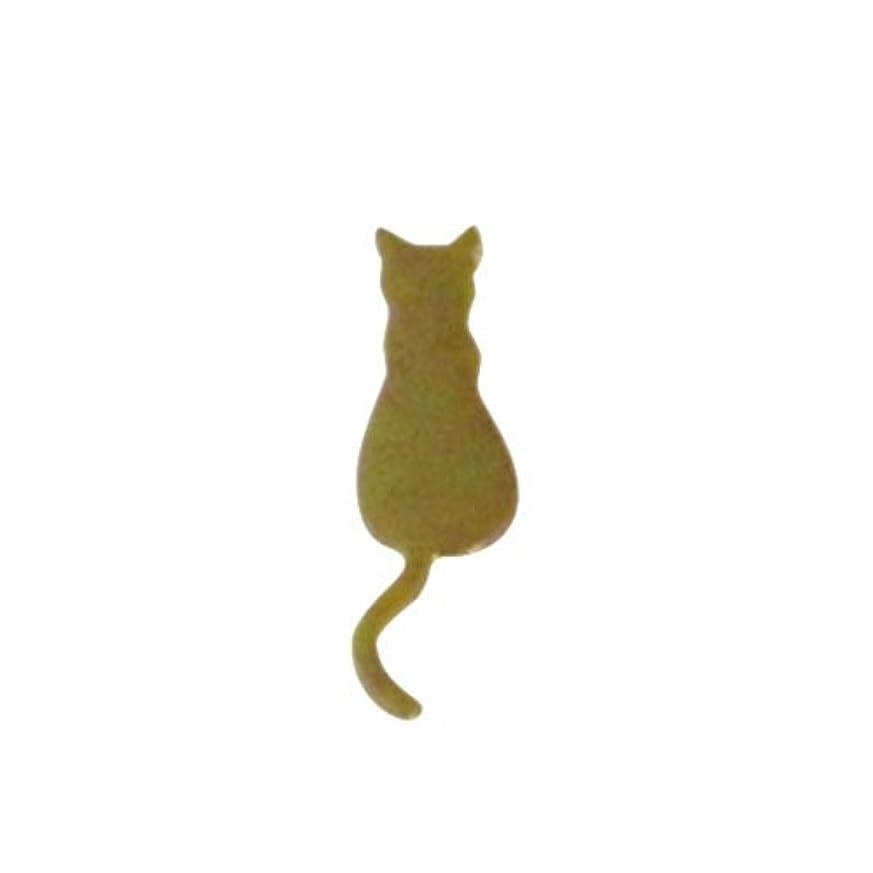 ゲートやろうセットアップリトルプリティー ネイルアートパーツ 猫4 ゴールド 10個