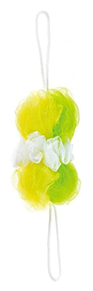 練習したまっすぐにするチャンバーマーナ ボディースポンジ 「背中も洗えるシャボンボール」 ミックス グリーン B873G