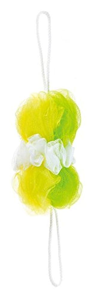 比喩木製大量マーナ ボディースポンジ 「背中も洗えるシャボンボール」 ミックス グリーン B873G