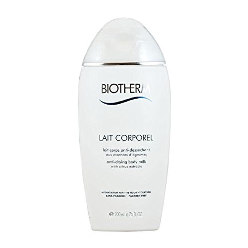 グリーンバック時代遅れ劇的Biotherm Lait Corporel Anti-Drying Body Milk 6.76 Ounce [並行輸入品]