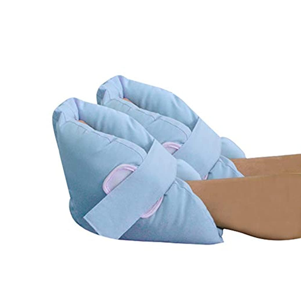 発疹収益目的ソフト慰めヒールプロテクター枕、足首サポート枕フットプロテクション、1ペア、ライトブルー