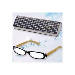 パール 老眼鏡 リーディングラス ここちあい スクエア ブラック +3.5 度数 木製 +3.5