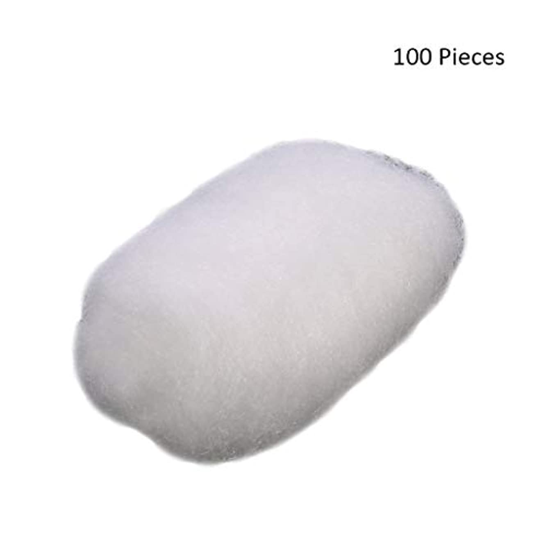 実験室ワックス領収書化粧パッド 100ピース/バッグコットンボールタトゥー消毒化粧クレンジングローションオイルマニキュア化粧品除去パフコットンボール メイク落とし化粧パッド (Color : White)