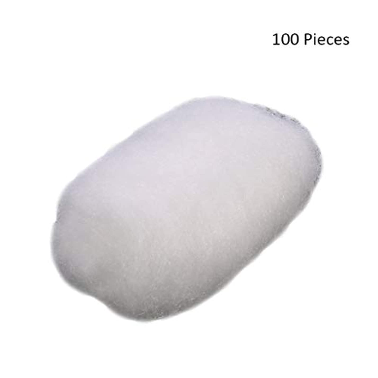 歯車潤滑するカビ化粧パッド 100ピース/バッグコットンボールタトゥー消毒化粧クレンジングローションオイルマニキュア化粧品除去パフコットンボール メイク落とし化粧パッド (Color : White)
