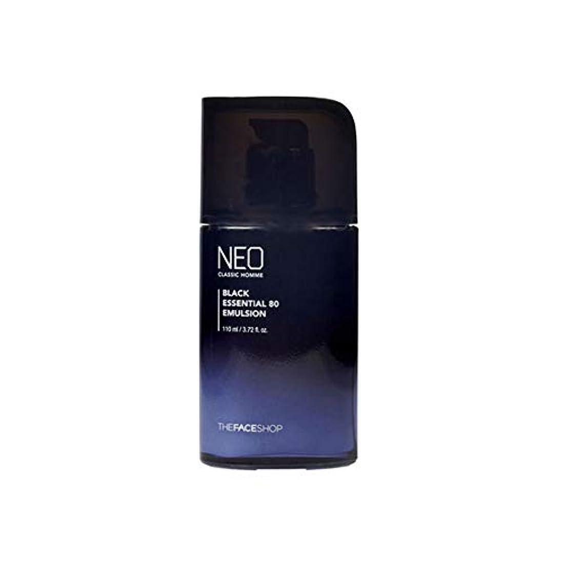 電気刻む長くする[ザフェイスショップ ]The Face shop ネオ クラシック オム ブラック エッセンシャル 80 エマルジョン110ml Neo Classic Homme Black Essential 80 Emulsion...