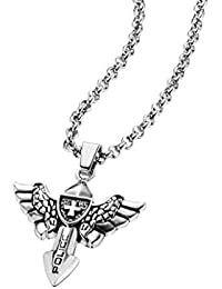 Police Men Stainless Steel Pendant Necklace - PJ25708PSS.01
