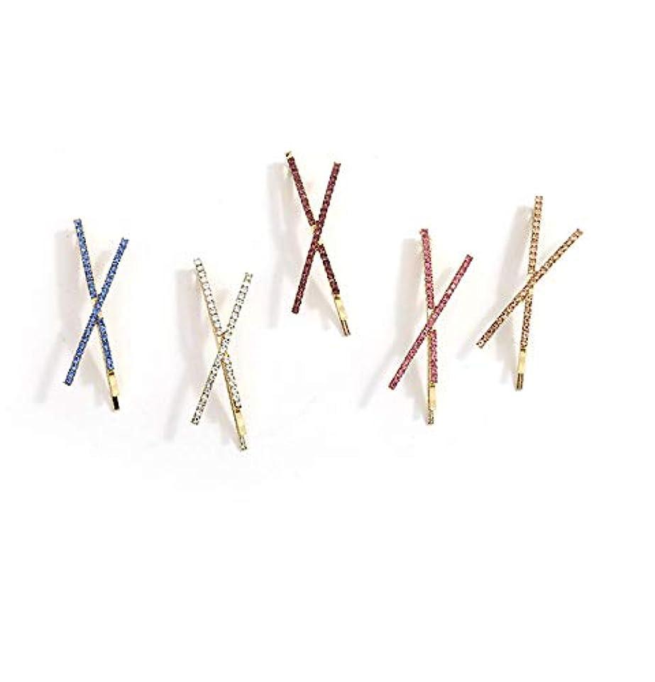 固有のパーツ反応する女性のための4ピースヘアクリップ、女の子のためのファッションヘアピンギフト