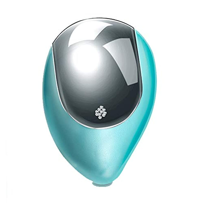 指定する有望湿気の多い理髪ツール マイナスイオンエアクッション帯電防止ヘッド磁気療法マッサージワイヤレスポータブル電気くし (Color : Green)