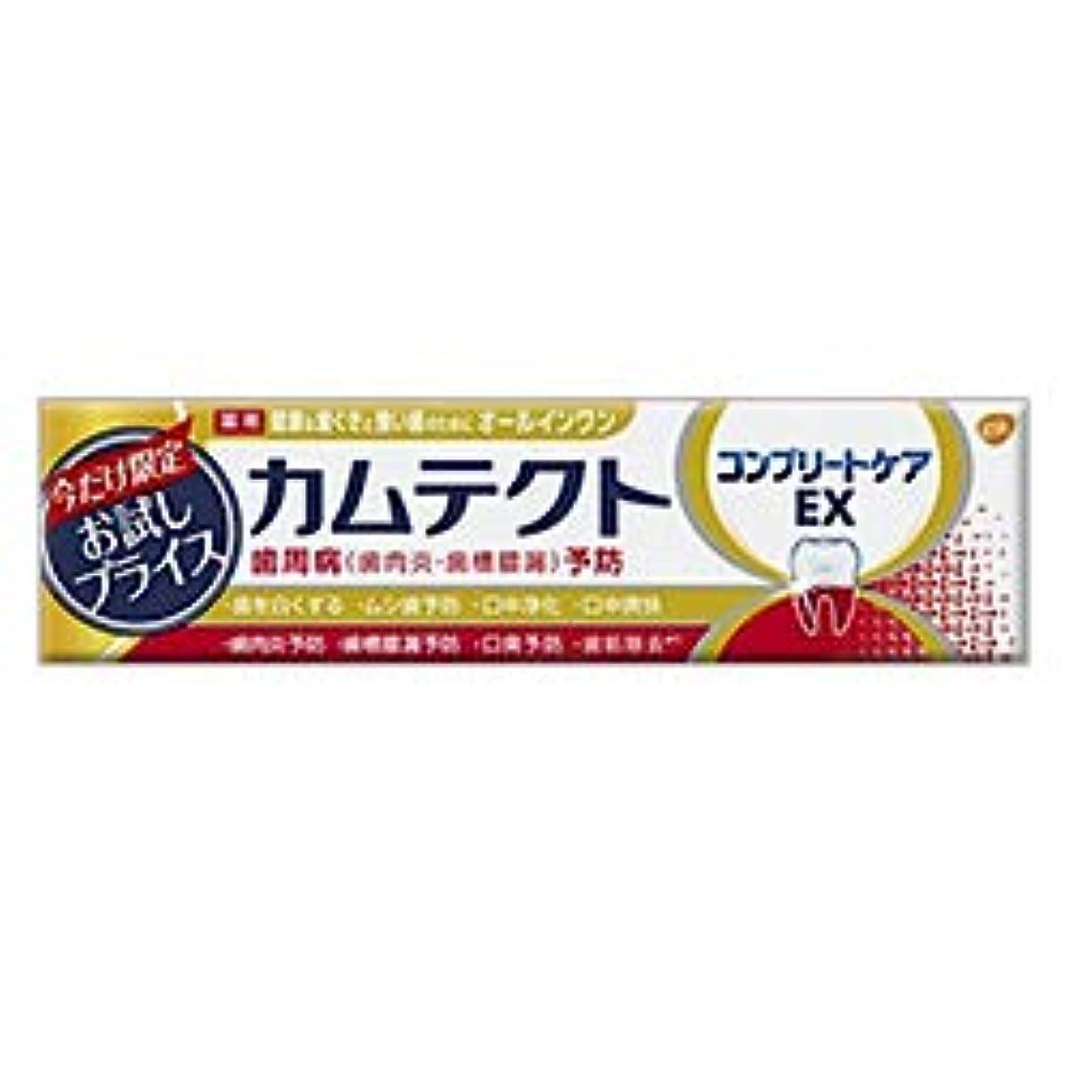 見えるでも観察【アース製薬】カムテクト コンプリートケアEX 限定お試し版 95g [医薬部外品] ×4個セット
