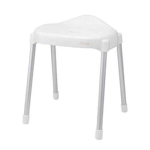 Rufca 風呂いす ワイド 高さ40cm ホワイト ( 風呂椅子 バスチェア )
