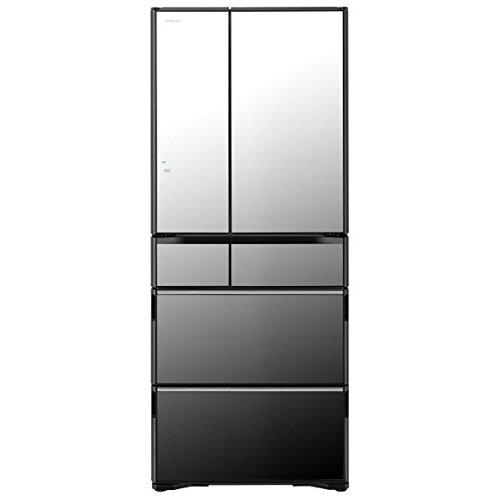 R-WX62J X(クリスタルミラ-) ラグジュアリ-WX 6ドア冷蔵庫 観音開き 615L