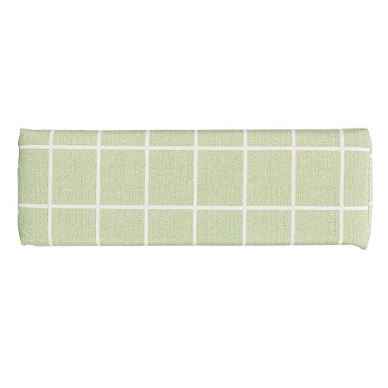 一月気候毛布ネイルアートハンドピローサロンハンドアームレストホルダー(緑)