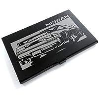 ブラックアルマイト「日産(NISSAN) 180SX 前中期」切り絵デザインのカードケース