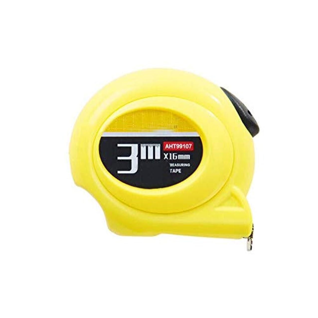 ハチ祝福精査Kaiyitong001 スチール巻き尺、ミニパームセルフロックメトリック巻き尺、3 Mイエローツールメジャー定規3 * 16 mm 繊細な (Color : Yellow, Size : 3m*16mm)