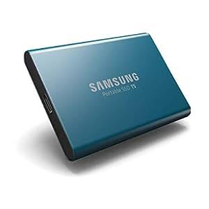 Samsung 外付けSSD T5 500GB 最大転送速度540MB/秒  【PlayStation4 動作確認済】 USB3.1 Gen2対応 正規代理店保証品 ブルー MU-PA500B/IT