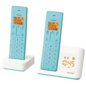 シャープ デジタルコードレス電話機 子機1台付き 1.9GHz DECT準拠方式 ターコイズブルー JD-BC1CW-A