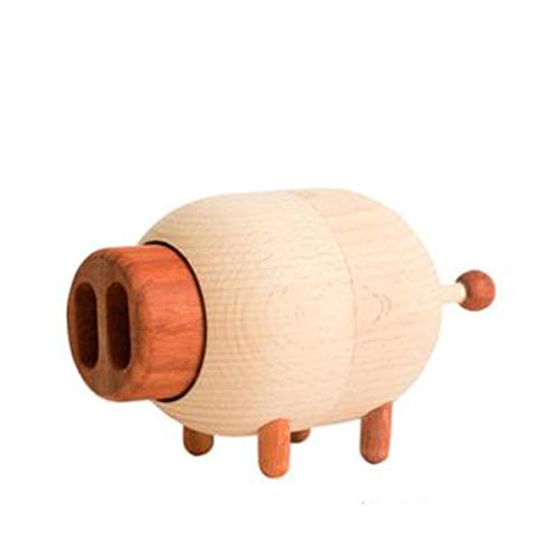中世の動物園カロリーQiyuezhuangshi ギフト豚オルゴールスカイシティオルゴール木製回転クリエイティブ送信女の子カップル誕生日ギフト,美しいホリデーギフト (Style : Pig)