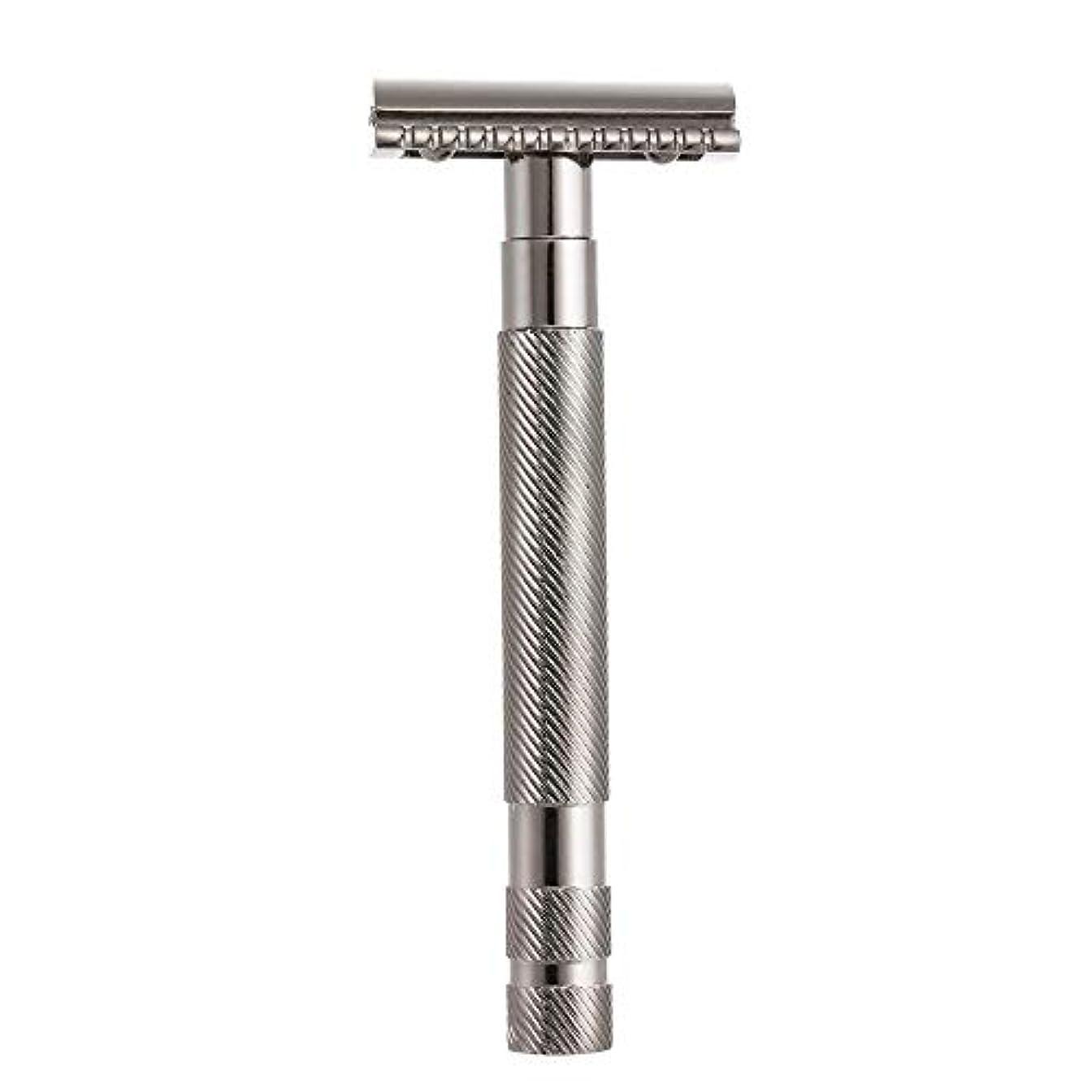 急勾配の不適切なまぶしさDecdeal 安全 ダブル カミソリ 髭剃り 男性 シェービングツール