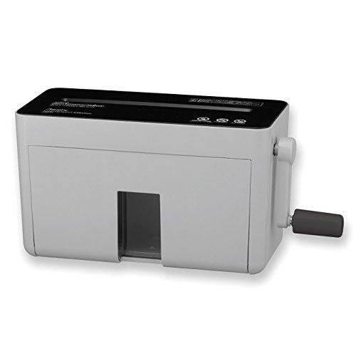 アスカ asmix ハンドマイクロカットシュレッダー HM02GR 2×10微小細断 2枚同時細断 グレー
