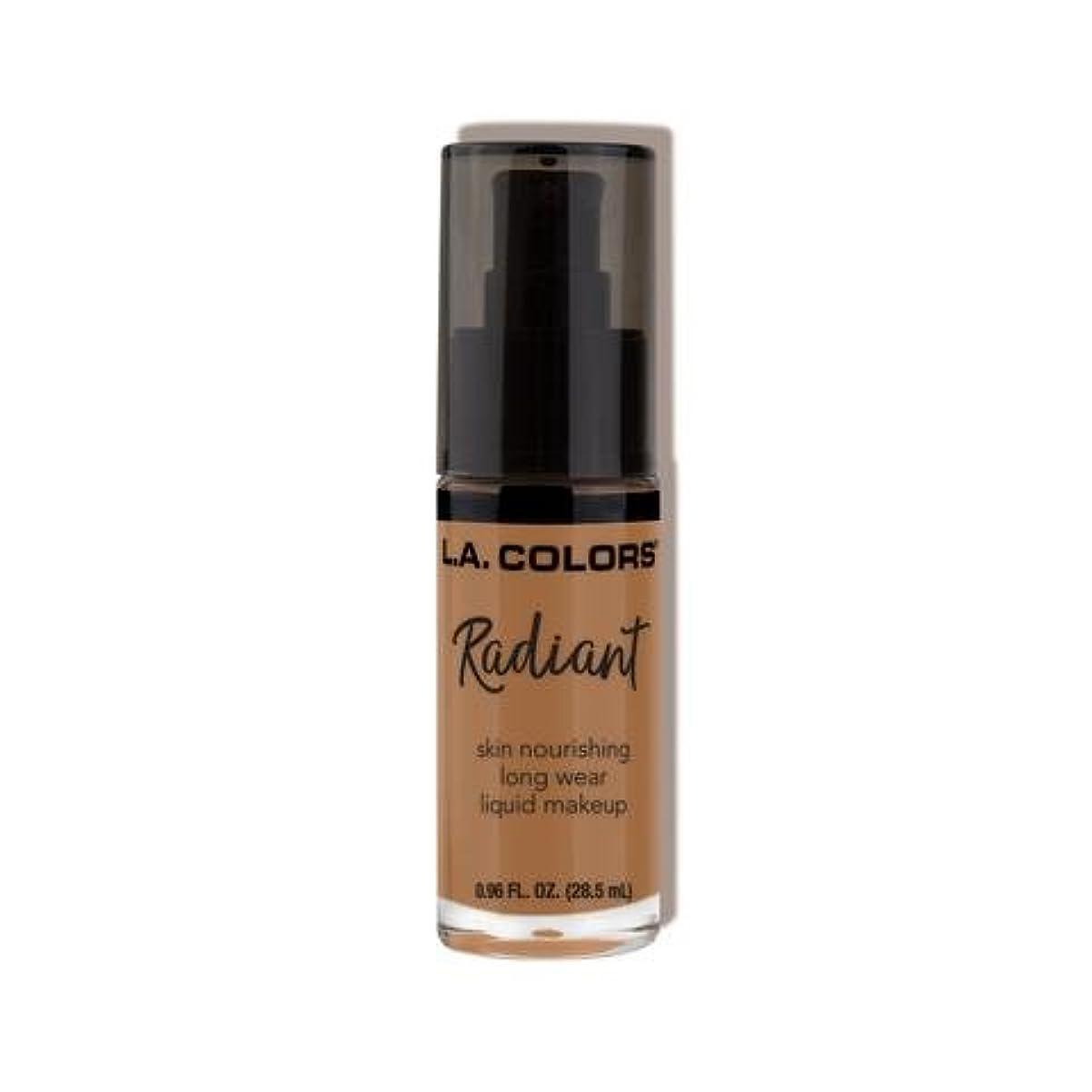 ポール学期もろい(3 Pack) L.A. COLORS Radiant Liquid Makeup - Chestnut (並行輸入品)