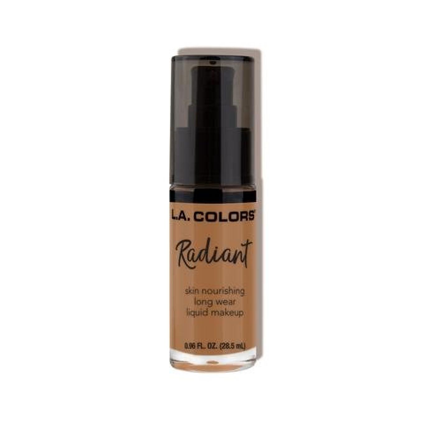 デモンストレーションノート疑問を超えて(3 Pack) L.A. COLORS Radiant Liquid Makeup - Chestnut (並行輸入品)