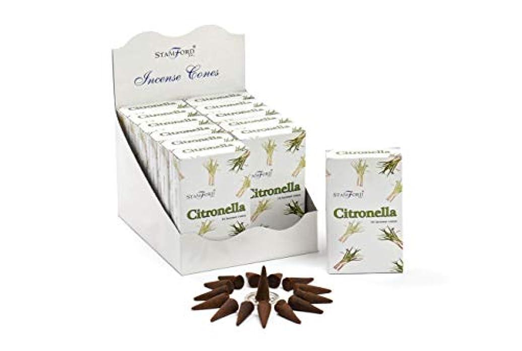どっち蜜準備するStamford Citronella Incense Cones, 15 Cones x 12 Packs by Stamford