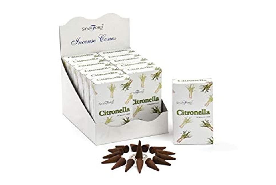 先にアクセシブル哀Stamford Citronella Incense Cones, 15 Cones x 12 Packs by Stamford
