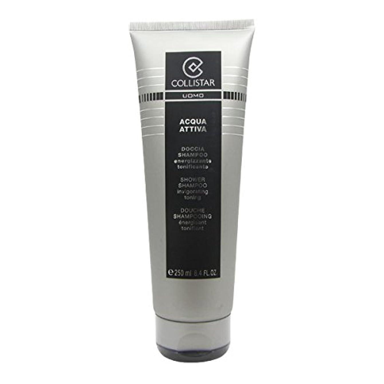 かろうじてハーネス腐敗Collistar Men Acqua Attiva Shower Shampoo 250ml [並行輸入品]