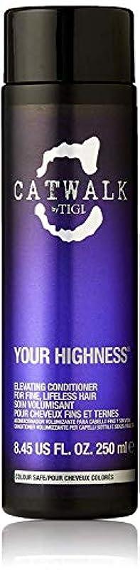 血色の良いソファー花瓶ティジー キャットウォーク ユア ハイネス エレベーティング コンディショナー (細く元気のない髪用) 250ml/8.45oz