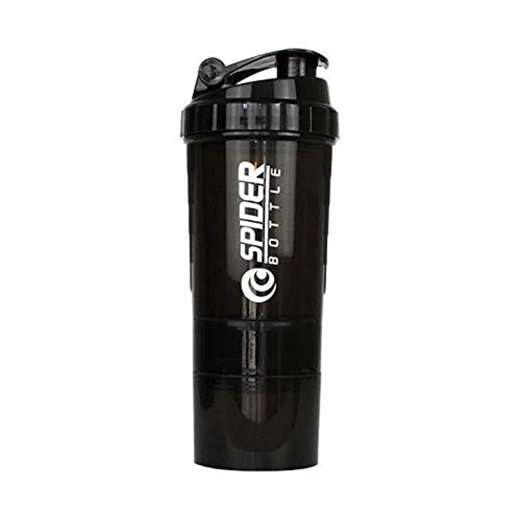 機会土器暗殺ブレンダーボトル プロテインシェイカー 500ml シェーカーボトル (ブラック)
