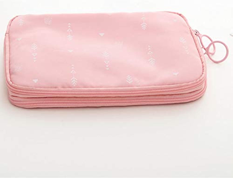 旅行に最適カード 小物 充電器収納バック旅行 出張 防水 (ピンク)
