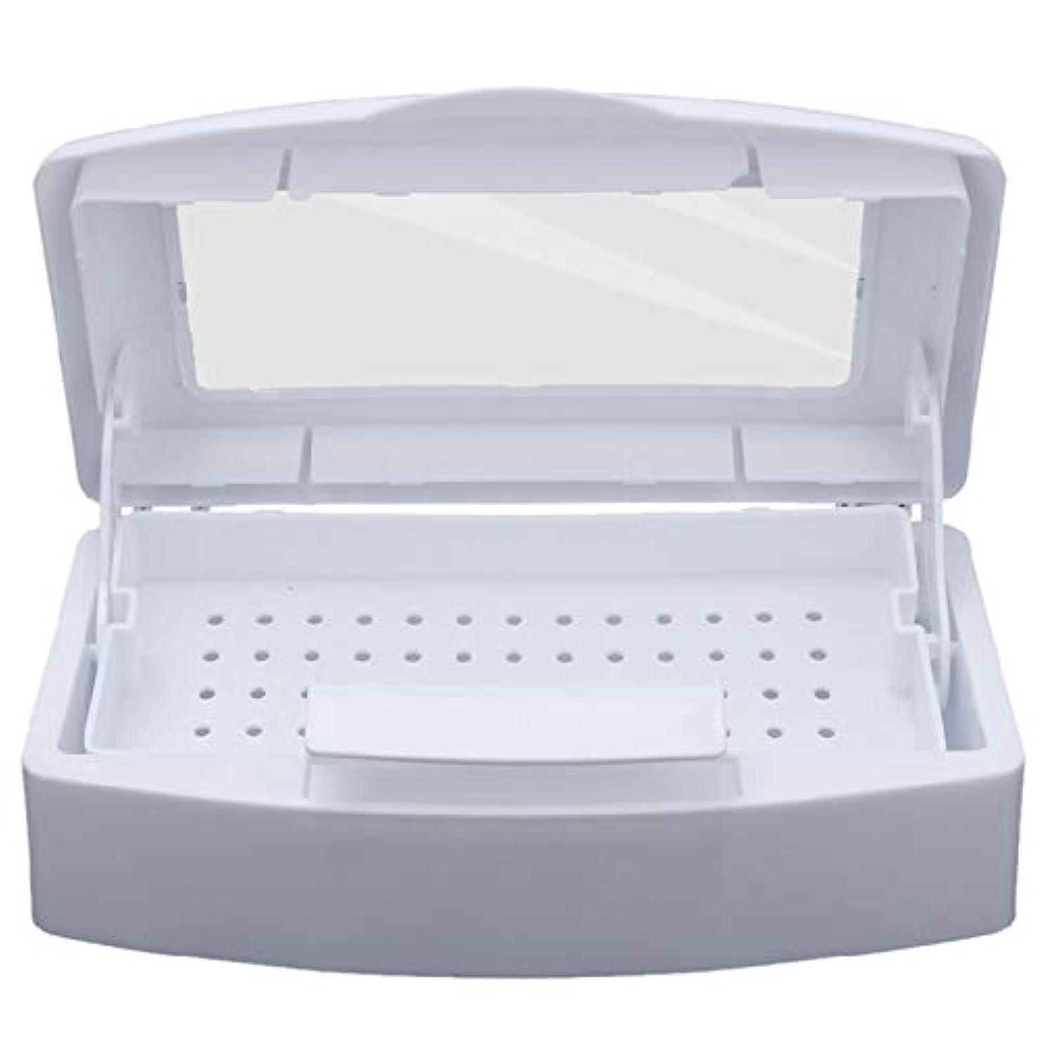 検証三十夜明けにCUHAWUDBA ネイル滅菌 トレイ消毒 ペディキュアマニキュアボックス ネイルアートボックス 滅菌サロンツール マニキュアツール