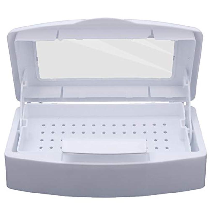 仕方ホバー失CUHAWUDBA ネイル滅菌 トレイ消毒 ペディキュアマニキュアボックス ネイルアートボックス 滅菌サロンツール マニキュアツール