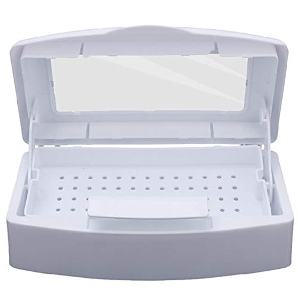CUHAWUDBA ネイル滅菌 トレイ消毒 ペディキュアマニキュアボックス ネイルアートボックス 滅菌サロンツール マニキュアツール