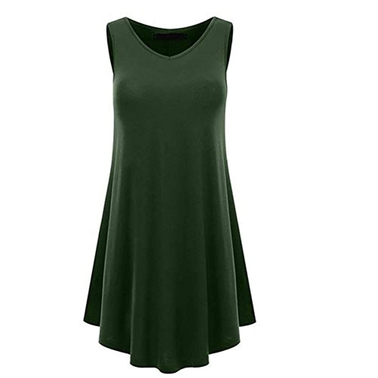 荒らすおばあさん戦艦MIFAN の女性のドレスカジュアルな不規則なドレスルースサマービーチTシャツドレス