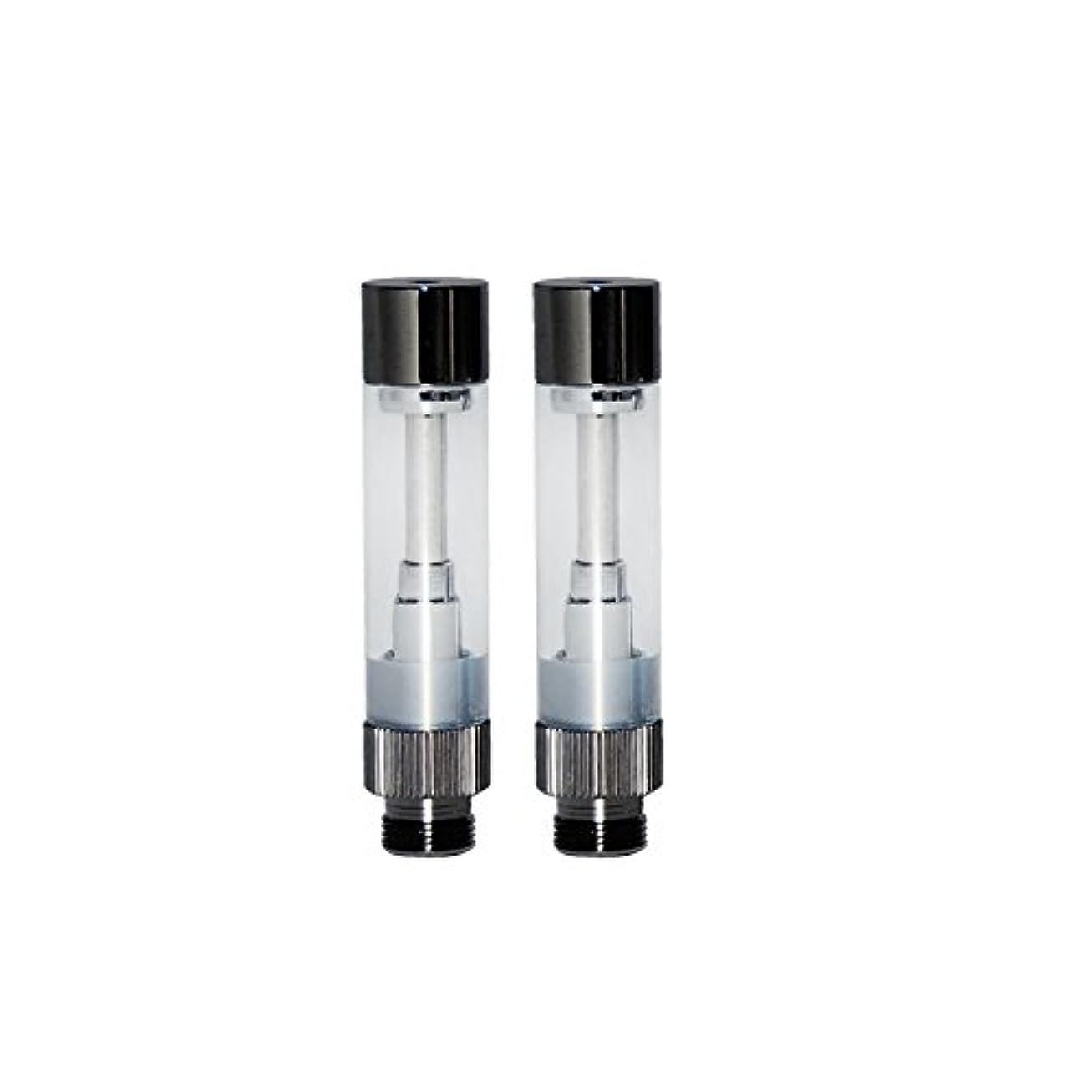 カロリー解任円形の電子タバコ アトマイザー smiss社 EMILI MINI+ エミリミニプラス専用アトマイザー 2本セット ブラック