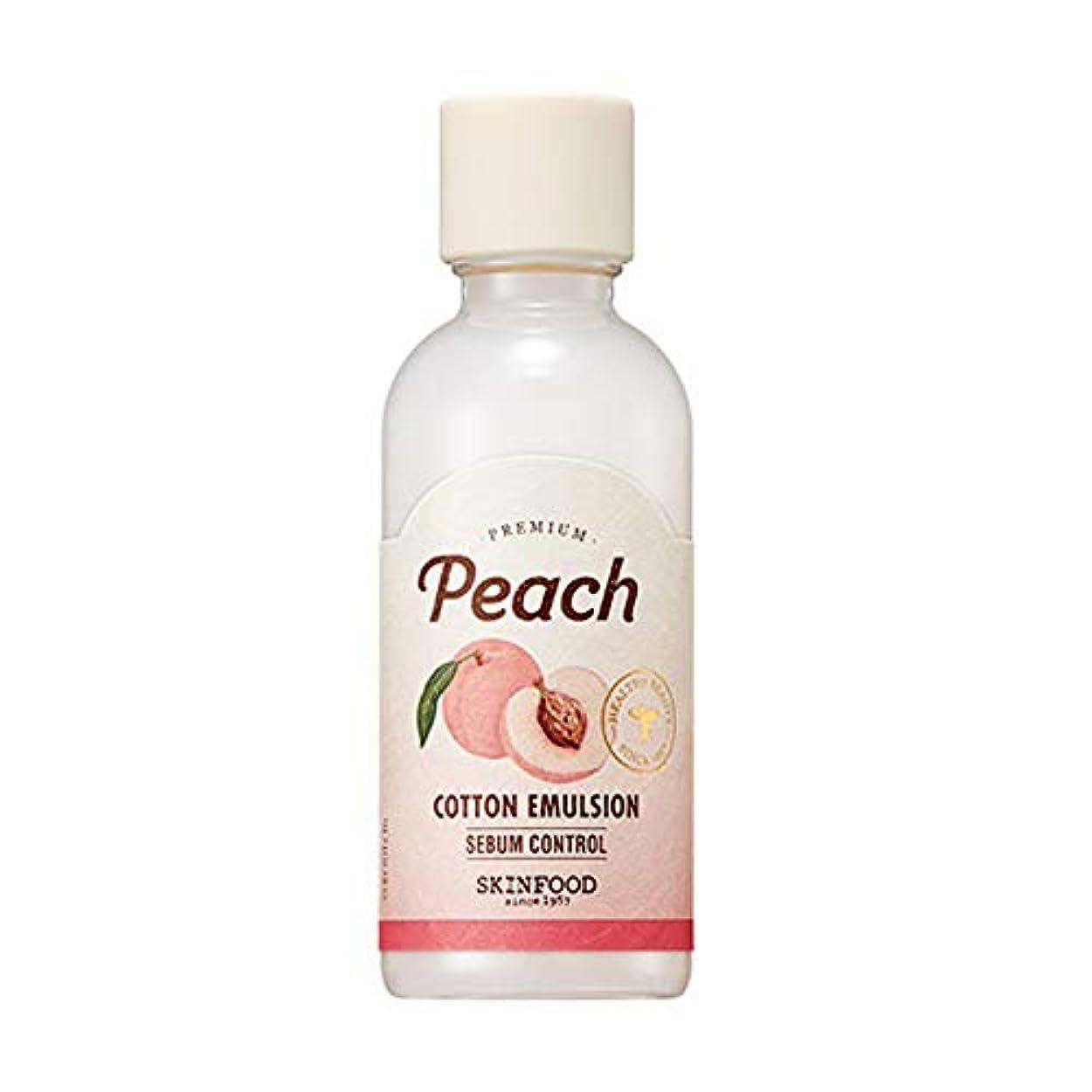 バッテリーヒープ有彩色のSkinfood プレミアムピーチコットンエマルジョン/Premium Peach Cotton Emulsion 160ml [並行輸入品]
