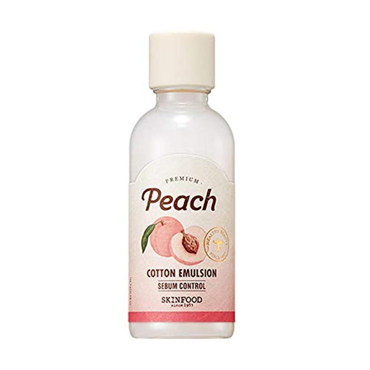 キャンペーン憲法語Skinfood プレミアムピーチコットンエマルジョン/Premium Peach Cotton Emulsion 160ml [並行輸入品]