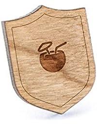 ヤシの実ラペルピン、木製ピンとタイタック付き|素朴な、ミニマルGroomsmenギフト、ウェディングアクセサリー