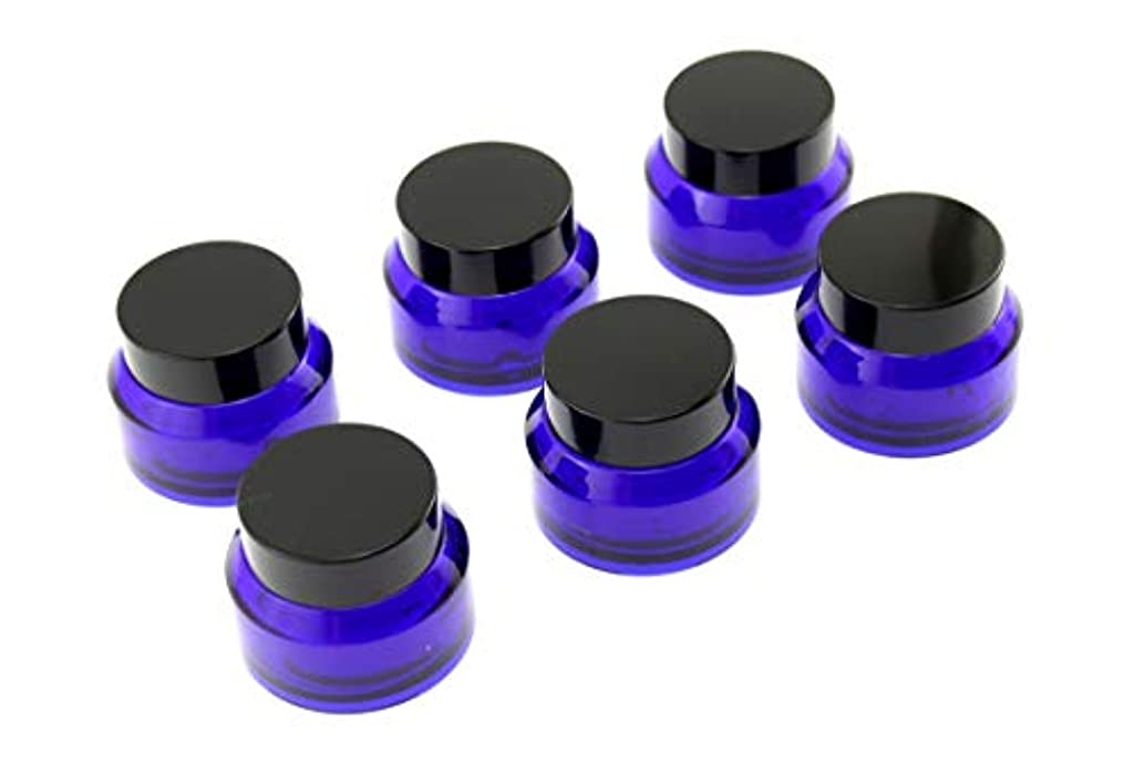 Olive-G ハンドクリーム 保存 詰め替え用 ガラス容器 遮光瓶 30g 6個セット NAVY