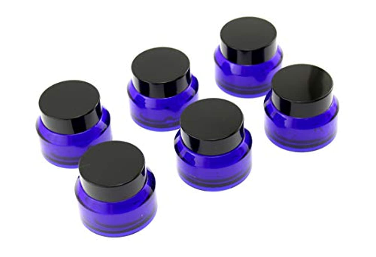 目覚めるもう一度アリOlive-G ハンドクリーム 保存 詰め替え用 ガラス容器 遮光瓶 30g 6個セット NAVY